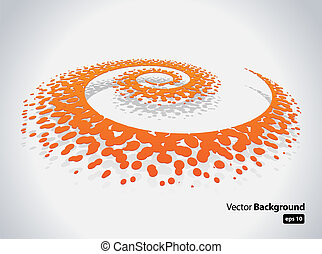 Abstract Spiral - This image represents an abstract spiral...