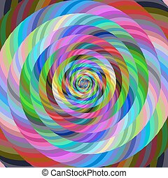 Abstract spiral fractal design background