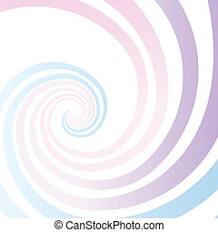 Abstract spiral gradient stripes bright vector background.