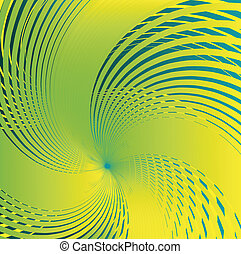 Abstract spiral green Background