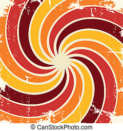 Abstract spiral grunge pattern background. Vector
