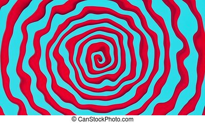Abstract spiral in red and blue