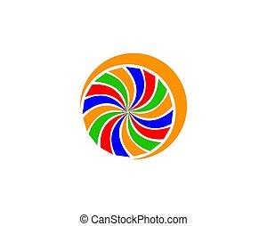 abstract spiral logo Design