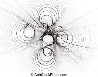Abstract spiral on a white background .