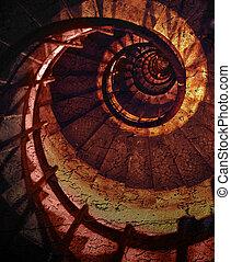 Abstract spiral grunge pattern