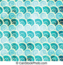 abstract spiral seamless pattern