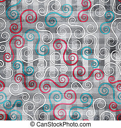 abstract spiral seamless texture with grunge effect
