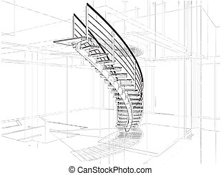 Abstract Spiral Staircases