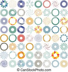 Abstract spiral, twist. Radial swirl, twirl curvy, wavy ...