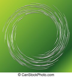 Abstract spiral, twist. Radial swirl, twirl wavy, curvy lines element. Whirlwind, whirlpool illustration. Circular, concentric loop pattern. Revolve, whirl design. Helix, volute rotation burst element