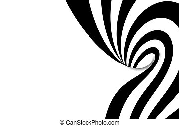 Abstract spiral with empty space