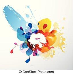 Abstract splash illustration wallpaper.