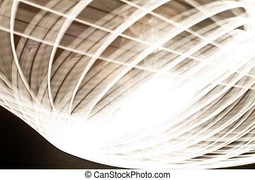 abstract, spoor, ringen, van licht