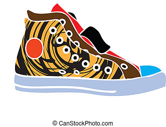 abstract, sport schoenen