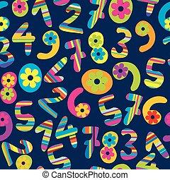abstract, spotprent, achtergrond, getallen