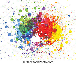 Abstract spots background with place for your text - ...