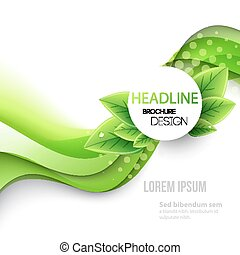 Abstract spring background. Template brochure design