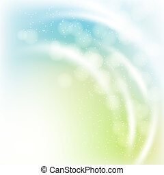 abstract spring background with light rayes, effects and bokeh