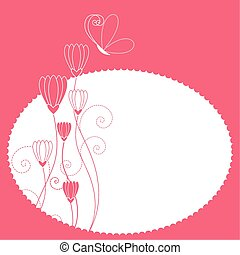 Abstract spring flower card