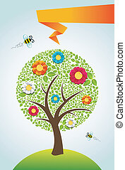 Abstract spring time tree background