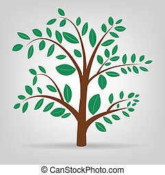 Abstract spring tree illustration