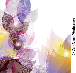 Abstract spring  vector background