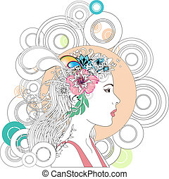 Abstract spring woman