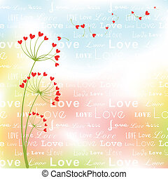 Abstract springtime love flower