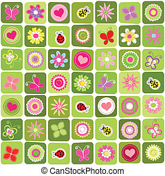 Abstract springtime seamless pattern background