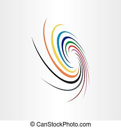 abstract spyral color tornado background rainbow speed...