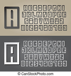 Abstract Square Alphabet and Digit Vector