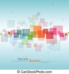 abstract square background - colorful abstract square...