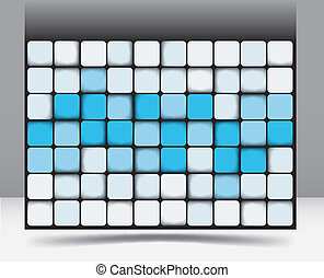 Abstract square background pattern