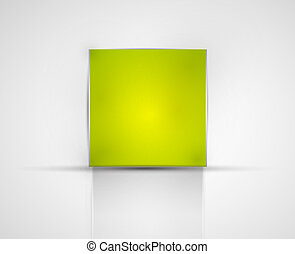 Abstract square banner - Vector illustration for your design