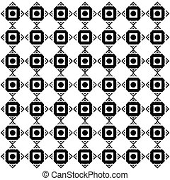 Abstract Square Black Dots Pattern Vector Image