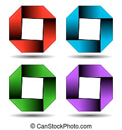 Abstract square business logo