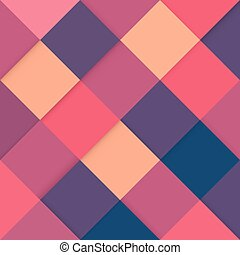 Abstract square colorful retro background with stylish colors, vector illustration