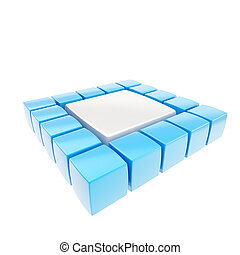 Abstract square copyspace background