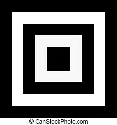 Abstract square element with deformation effect. Converging squares