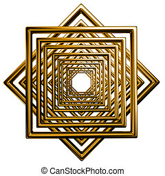 abstract square gold pattern