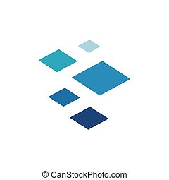Abstract Square Logo Design Template isolated on a white background