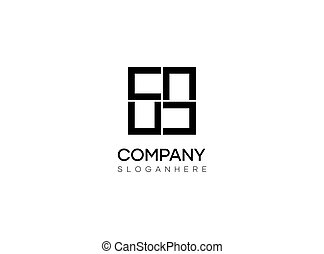 Abstract square logo design vector template, minimalistic logo design with simple and trendy style