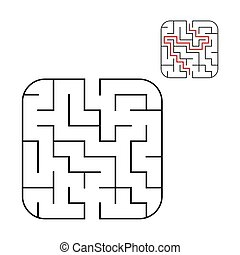 Easy baby maze for younger kids with a solution