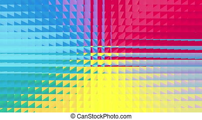 abstract square pattern 4K