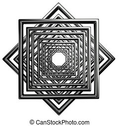 abstract square pattern