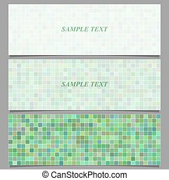 Abstract square pattern banner background set