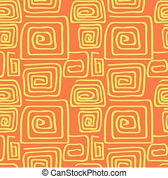 Abstract square pattern spiral