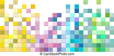 Abstract square pixel mosaic background.