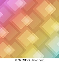 Abstract square shape on colorful background