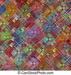 Abstract square shape pattern as background.